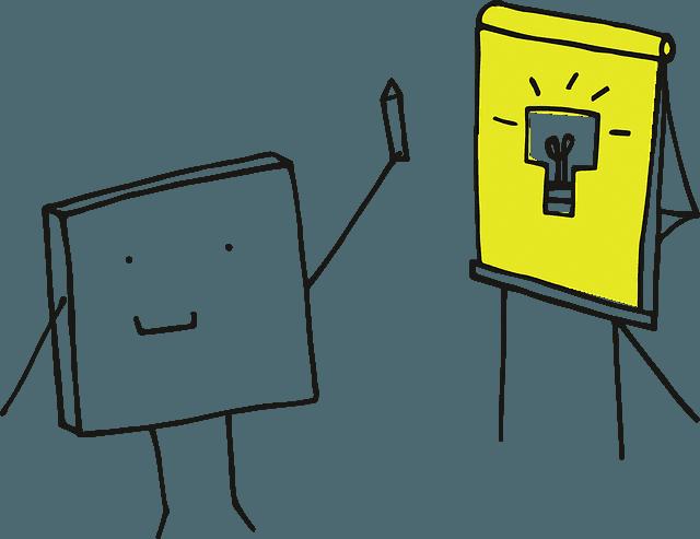 анимирано кубче презентатор презентационни умения