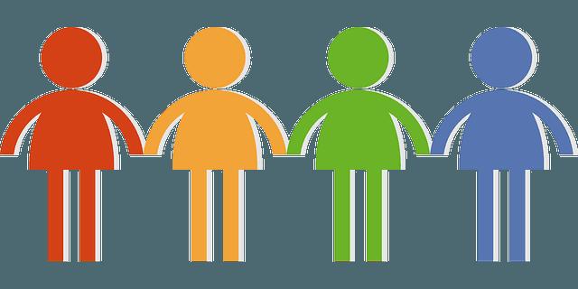 анимирани цветни човечета хванати за ръка социални умения