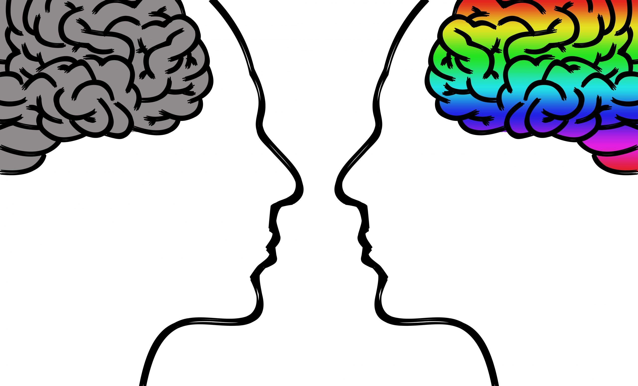 рисунки на два мозъка