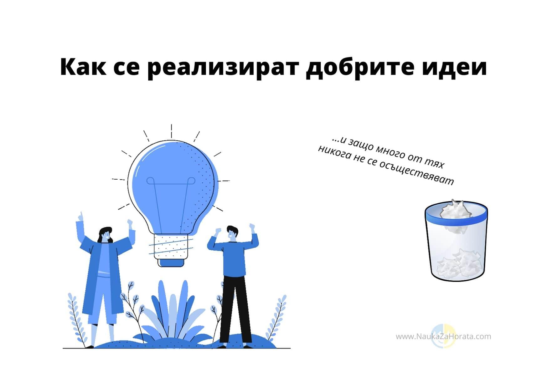 Как се реализират добрите идеи мъж и жена имат добра идея