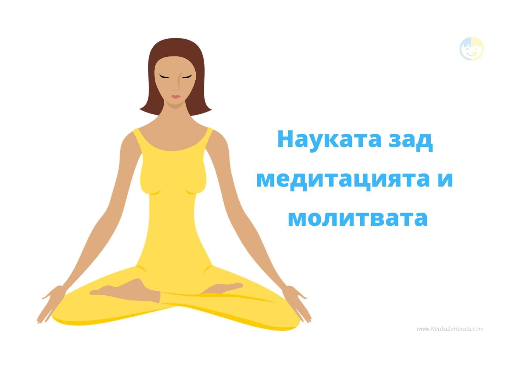 Науката зад медитацията и молитвата жена медититира облечена в жълто